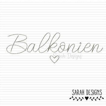 Stickdatei Balkonien – Doodlestich 18×13