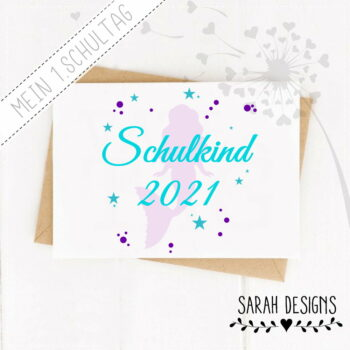 Plotterdatei Schulkind 2021 Meerjungfrau