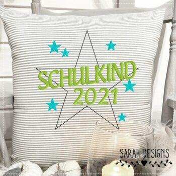 Stickdatei Schulkind Stern 2021 – 18×13