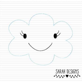 Stickdatei kleine Wolke – Doodlestich 10×10