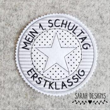 Stickdatei Stempel Endlich Schulkind 18×13