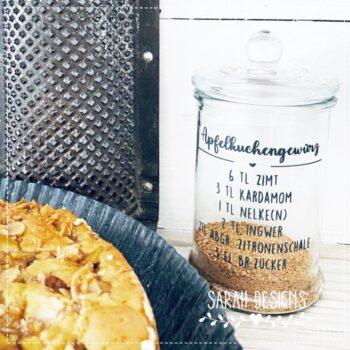 Plotterdatei Landhaus Apfelkuchengewürz