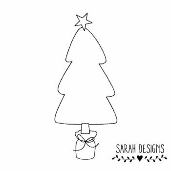 Stickdatei – 4 Größen Weihnachtsbaum