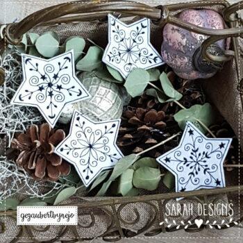 Stickdatei – Weihnachtssterne 4er Set 8cm