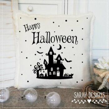 Plotterdatei Halloweenhaus inkl. Schrift